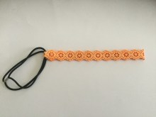 Headband suédine orange